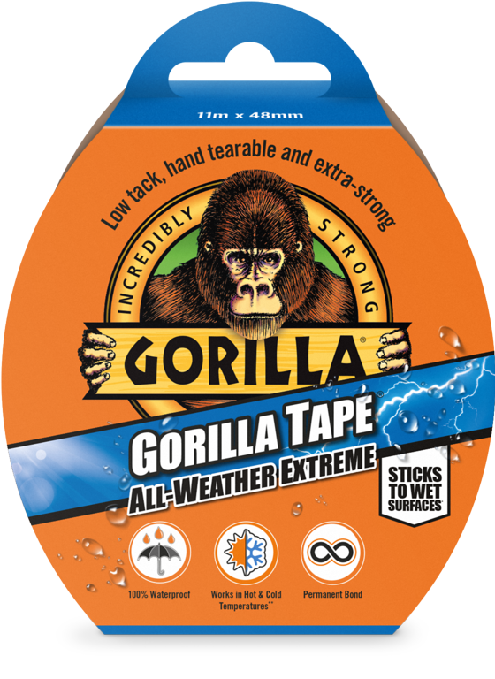 Gorilla All Weather Tape Black - 11m