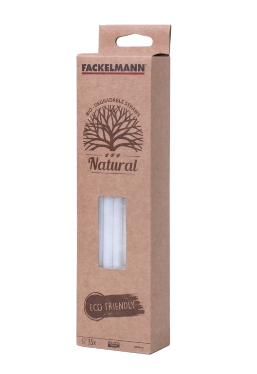 Fackelmann Bio Smoothie Straws White