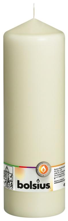 Bolsius Pillar Candle - Ivory 250/78