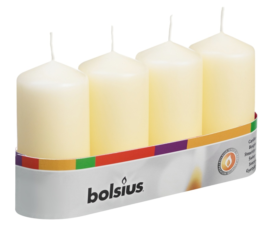 Bolsius Pillar Candle - Ivory 100/48 Tray 4