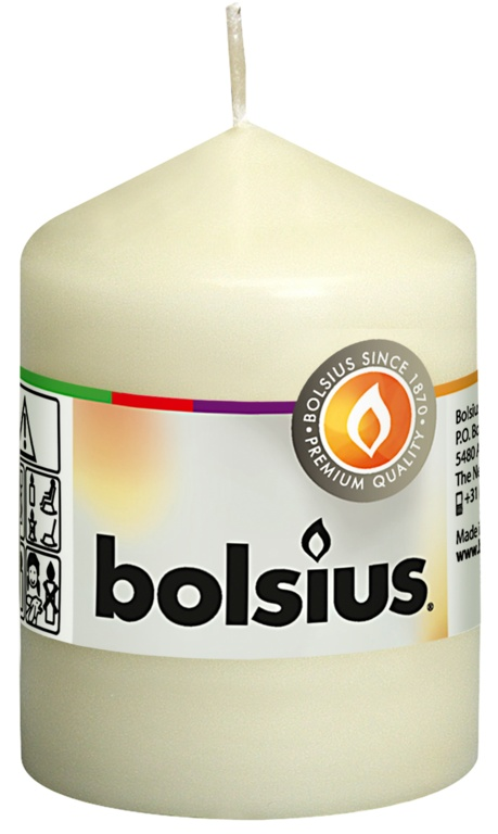 Bolsius Pillar Candle - Ivory 80/58