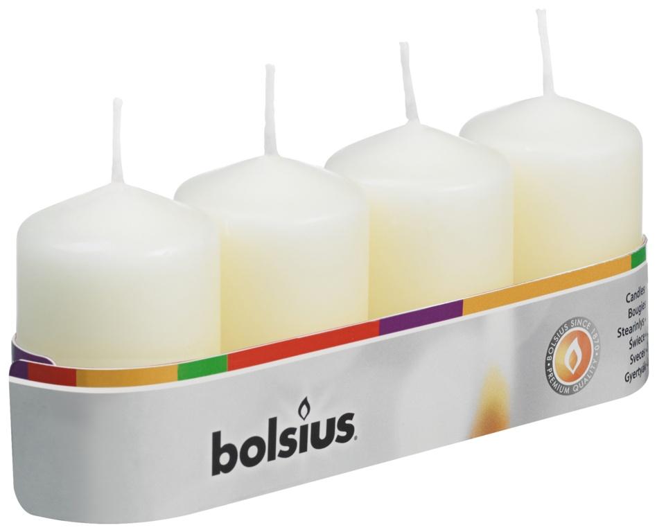 Bolsius Pillar Candle - Ivory 60/40 Tray 4