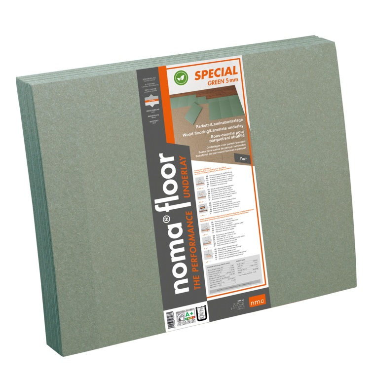 NMC Fibre Board Underlay Special Green - 5mm 7m2