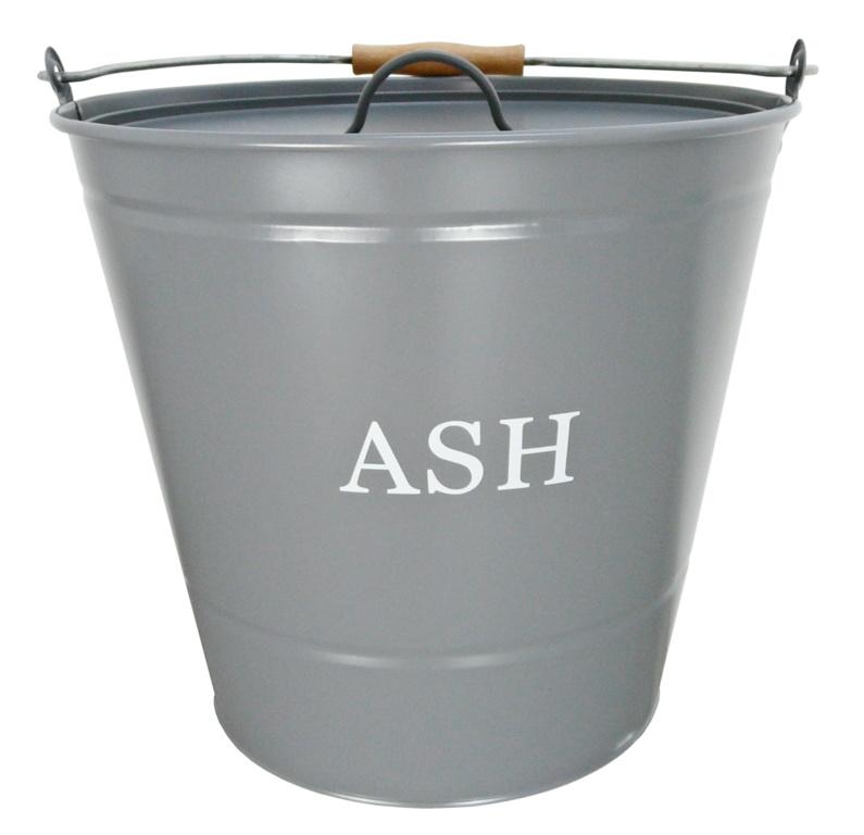 Manor Ash Bucket With Lid - Grey