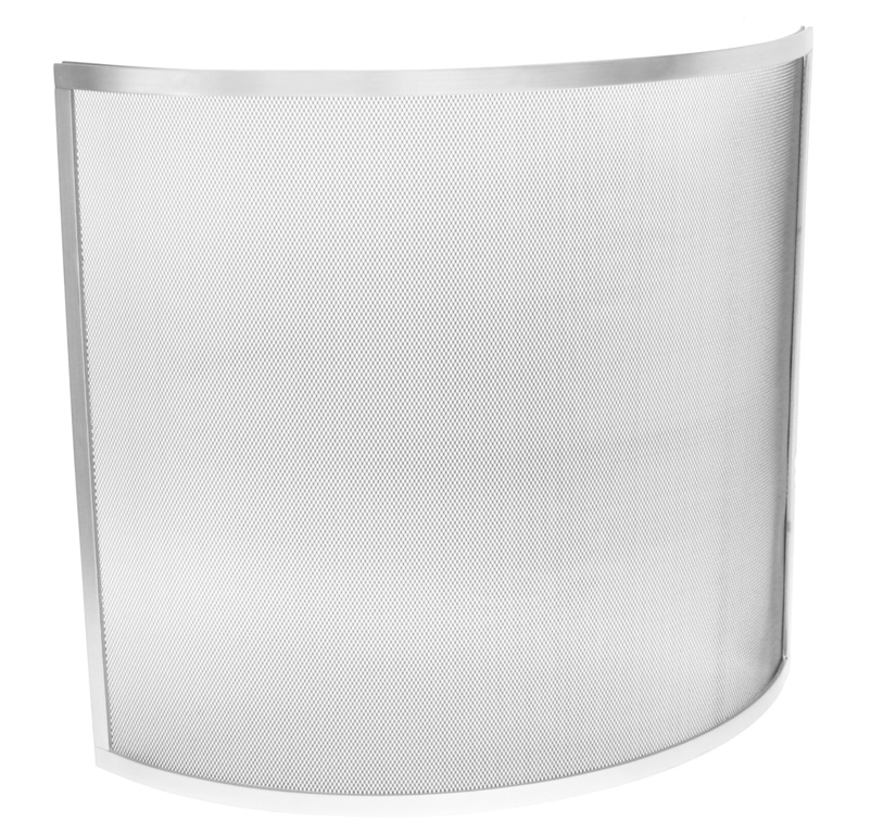 Manor Curved Guard - Silver 61 x 66cm
