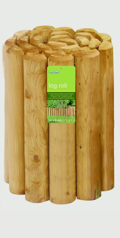 Gardman Treated Log Roll - 15cm x 1.8m