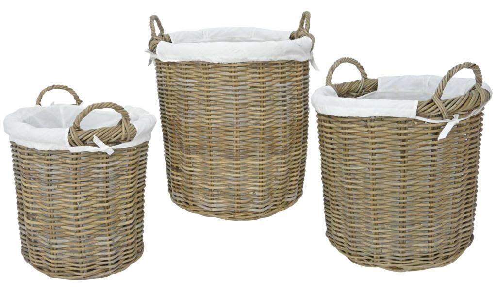Manor Langham Rattan Basket - Set 3