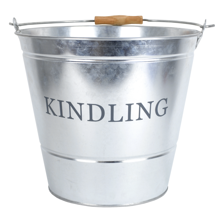 Manor Kindling Bucket - Galvanised