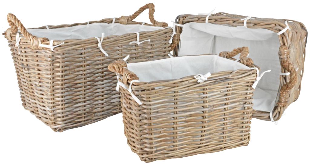 Manor Hilton Rattan Basket - Set 3