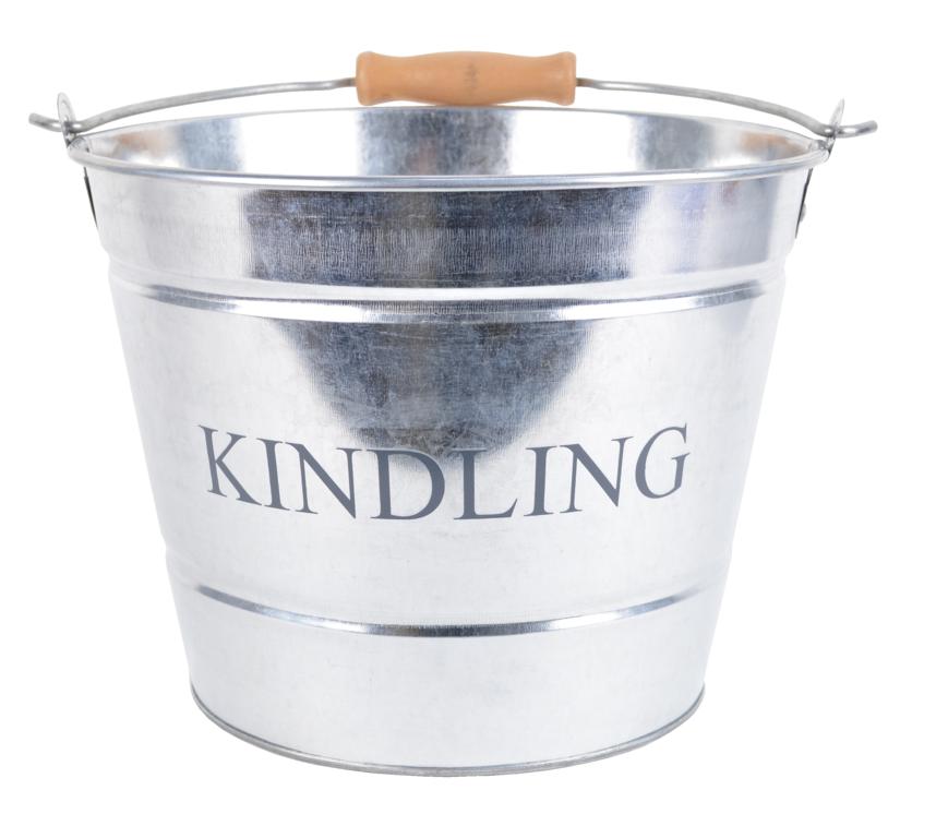 Manor Small Kindling Bucket - Galvanised