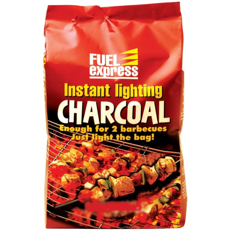 Fuel Express Instant Lighting Lumpwood Charcoal - 1kg