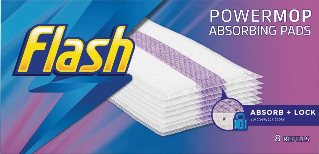 Flash Powermop Refill Pads - Pack 8