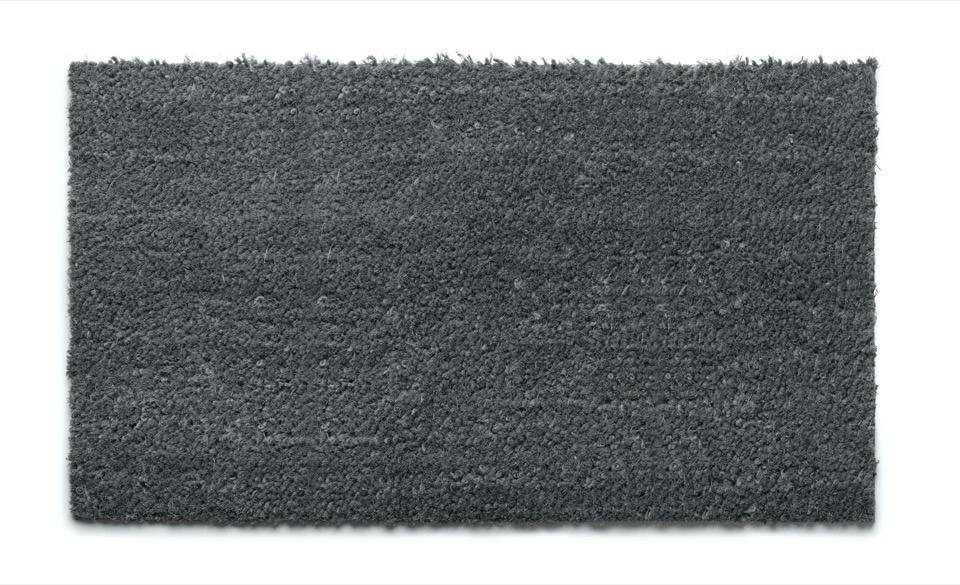 Groundsman Grey Coco PVC Backed Mat - 40 x 70cm