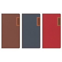 Tallon Slim Diary With Embossed Stitched Panel