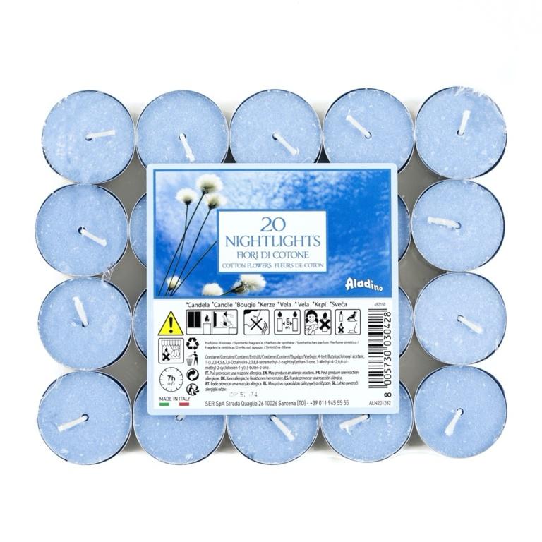 Aladino 7 Hour Nightlights Pack 20 - Cotton Flower