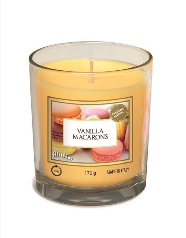 Aladino Medium Candle Jar - Vanilla Macarons