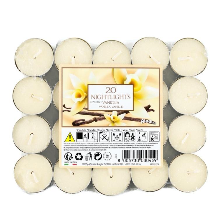 Aladino 7 Hour Nightlights Pack 20 - Vanilla