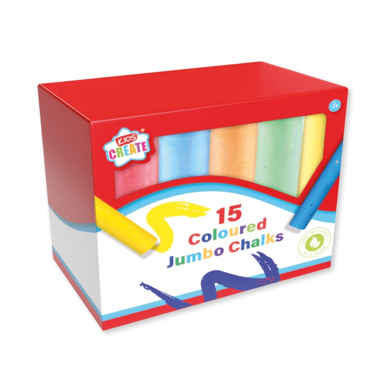 Anker Coloured Jumbo Chalks - Pack 15
