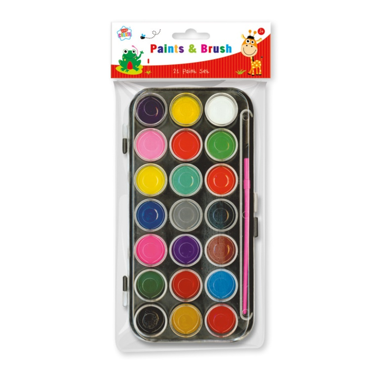 Anker 21 Paints & Brush Set