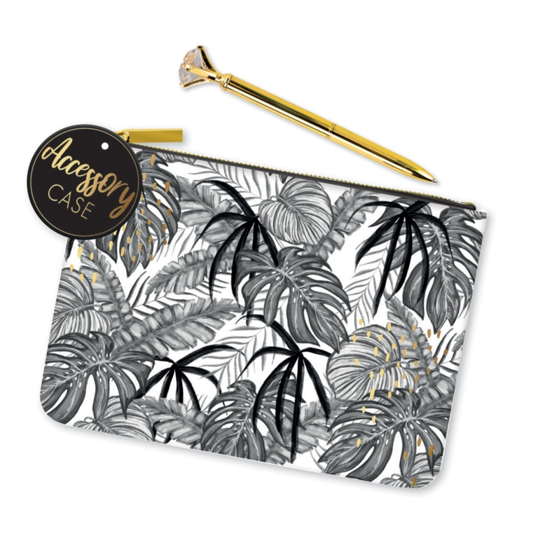 Anker Pencil Case - Tropical Noir