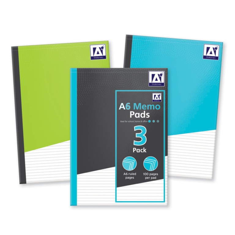 Anker Medium Memo Pads - Pack 3
