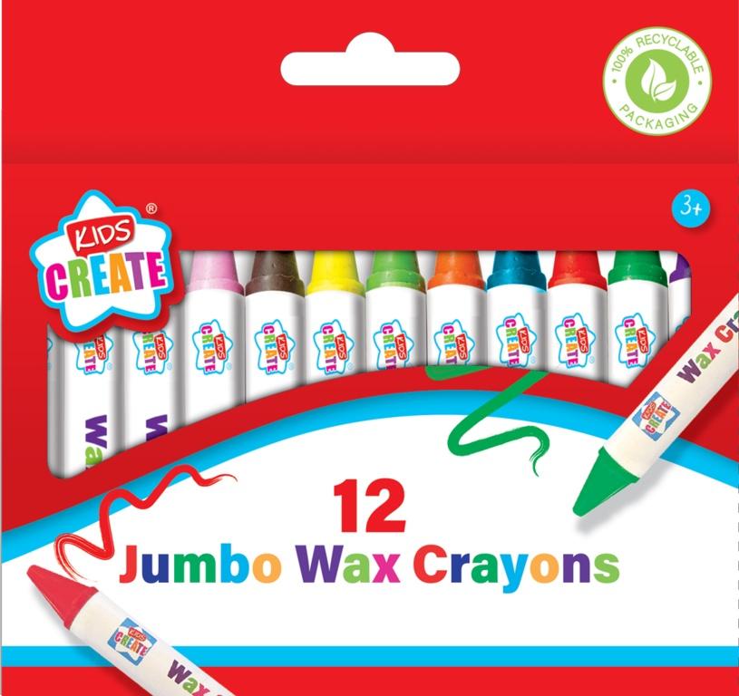 Anker 12 Pack Jumbo Wax Crayons