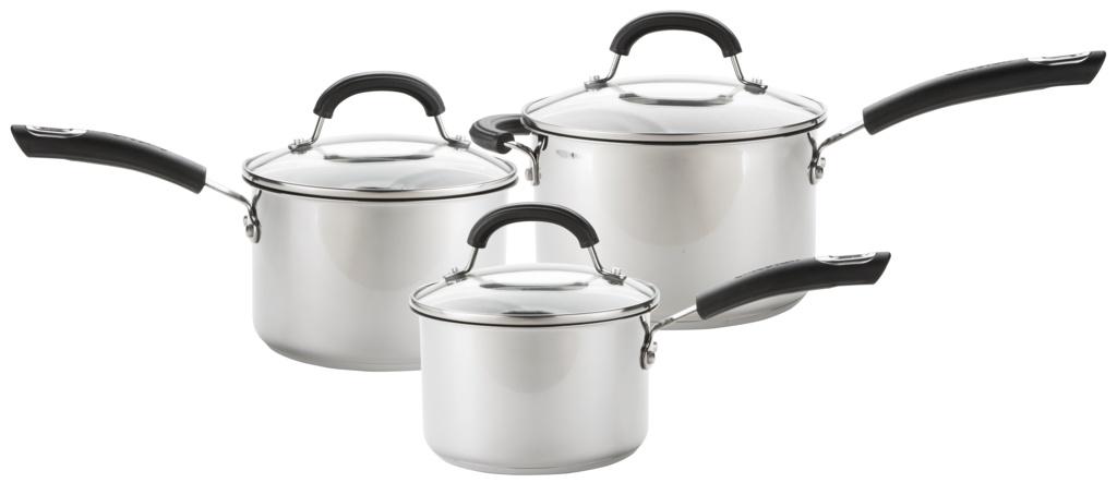 Circulon Total Stainless Steel Pan Set - 3 Piece