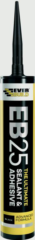 Everbuild Ultimate Sealant & Adhesive - Black 300ml