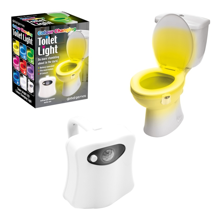 Global Gizmos LED Toilet Night Light - Colour Changing