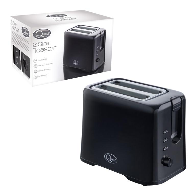 Quest 2 Slice Toaster - Black