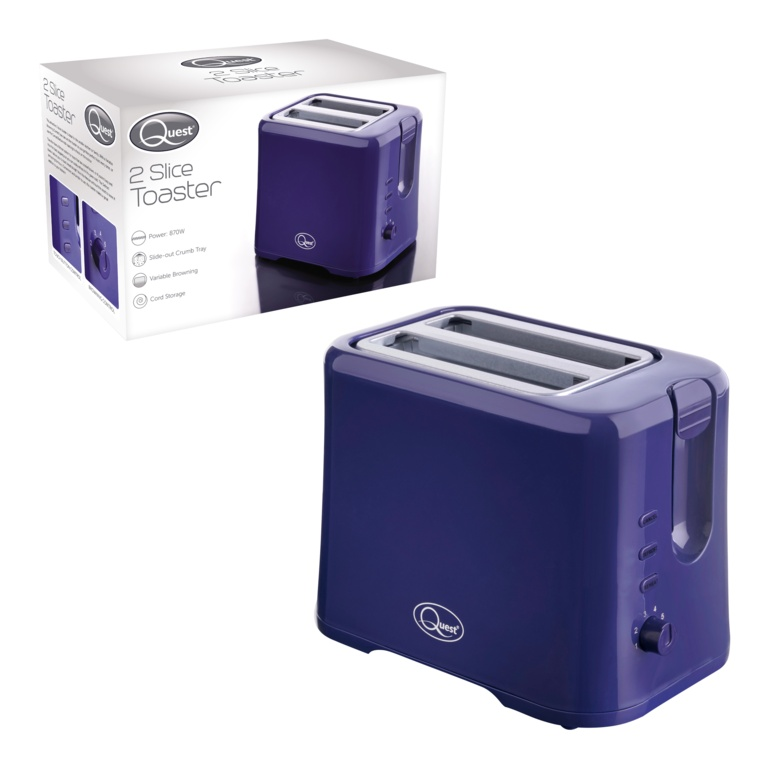 Quest 2 Slice Toaster - Navy Blue