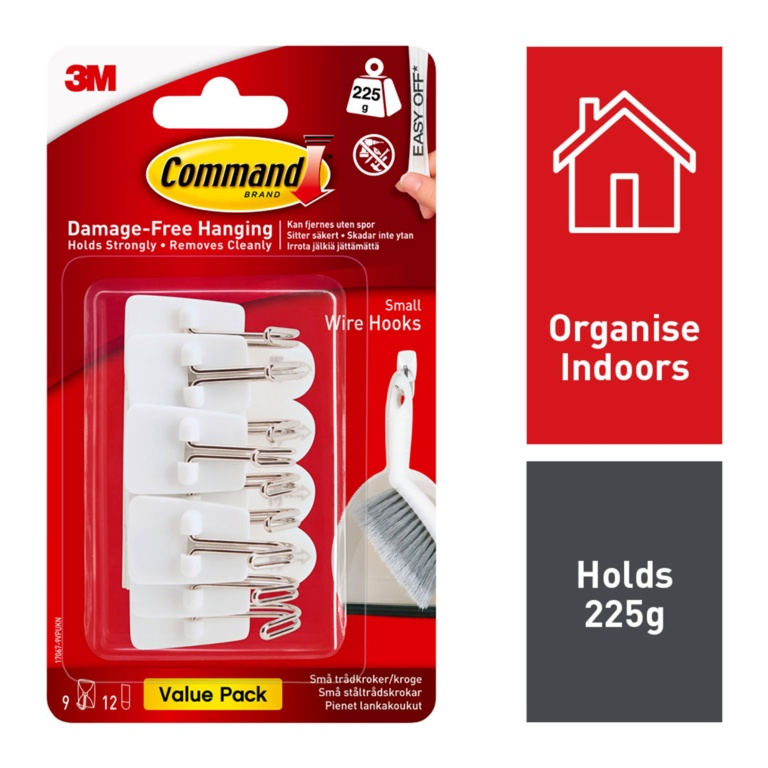 Command Wire Hooks Value Pack - Small