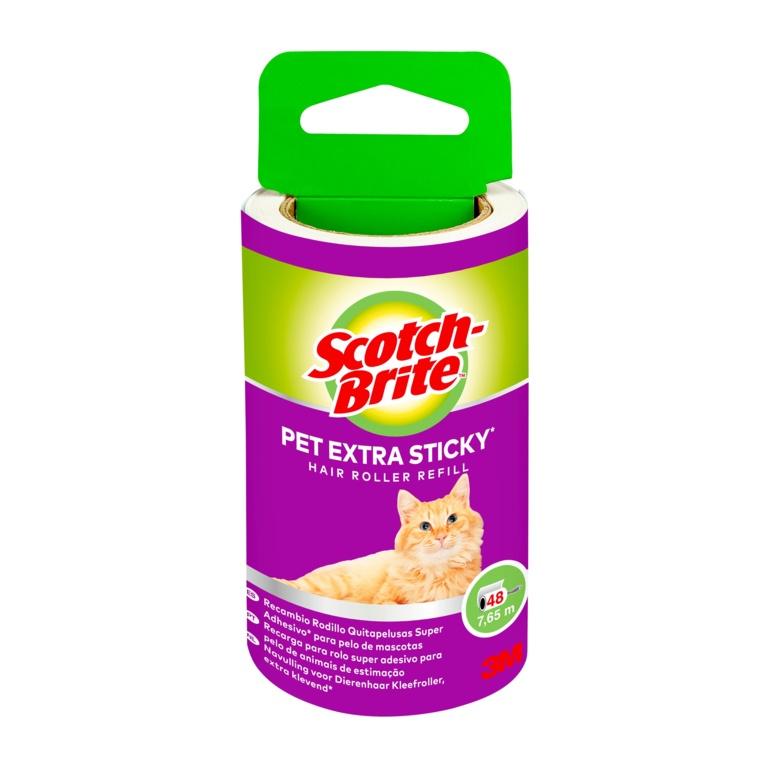 ScotchBrite Pet Extra Sticky Hair Roller - 48 Sheet Refill