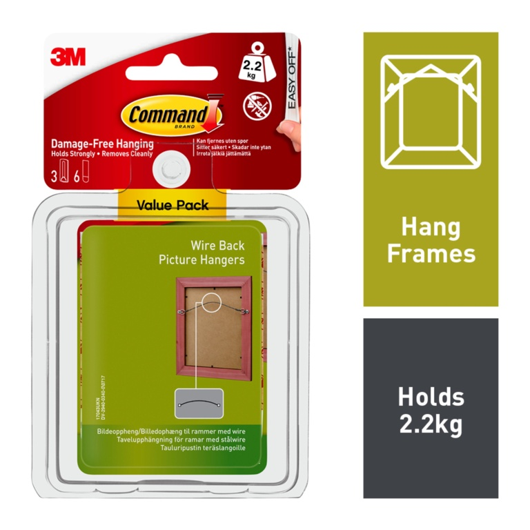 Command Wire Backed Picture Hang Hooks - Value Pack