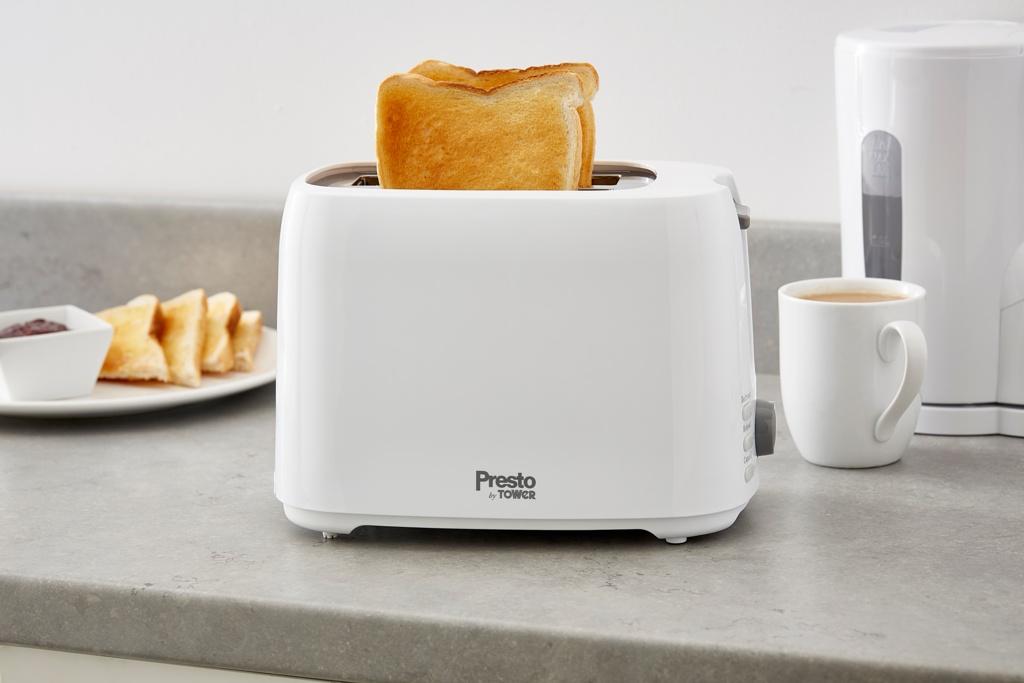 Tower Presto 2 Slice Toaster - White
