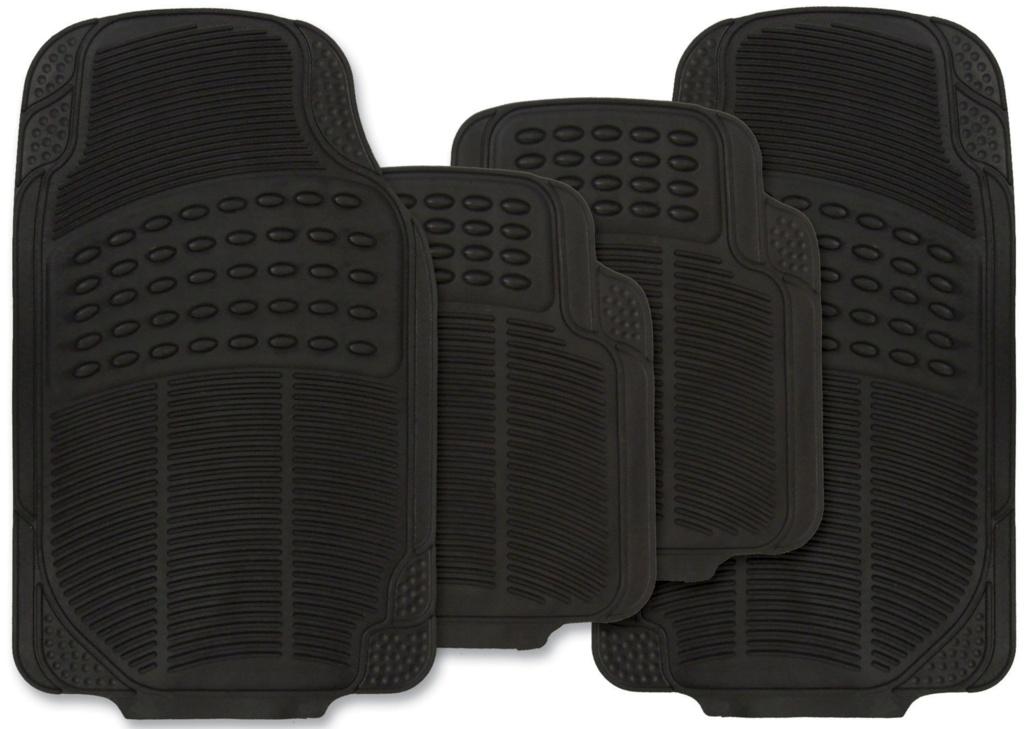 Streetwize Explorer Rubber Mat Set - Black 4 Piece