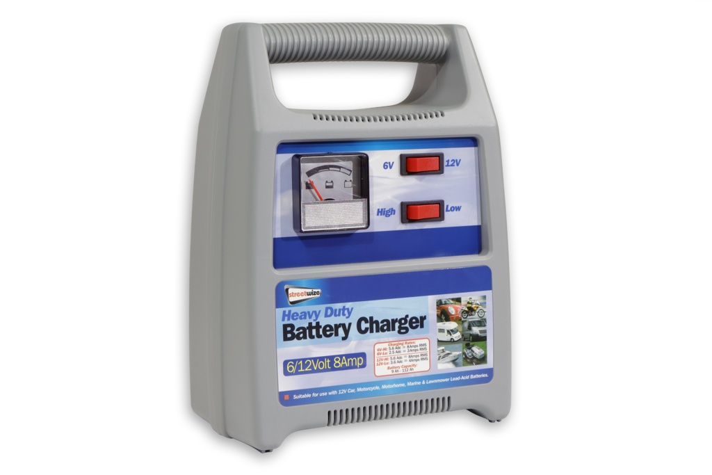 Streetwize 6/12v Automatic Battery Charger - 8amp