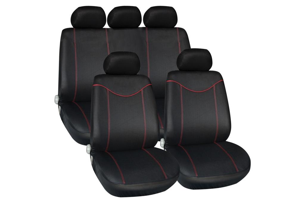 Streetwize Alabama Seat Cover Set - Red 11 Piece