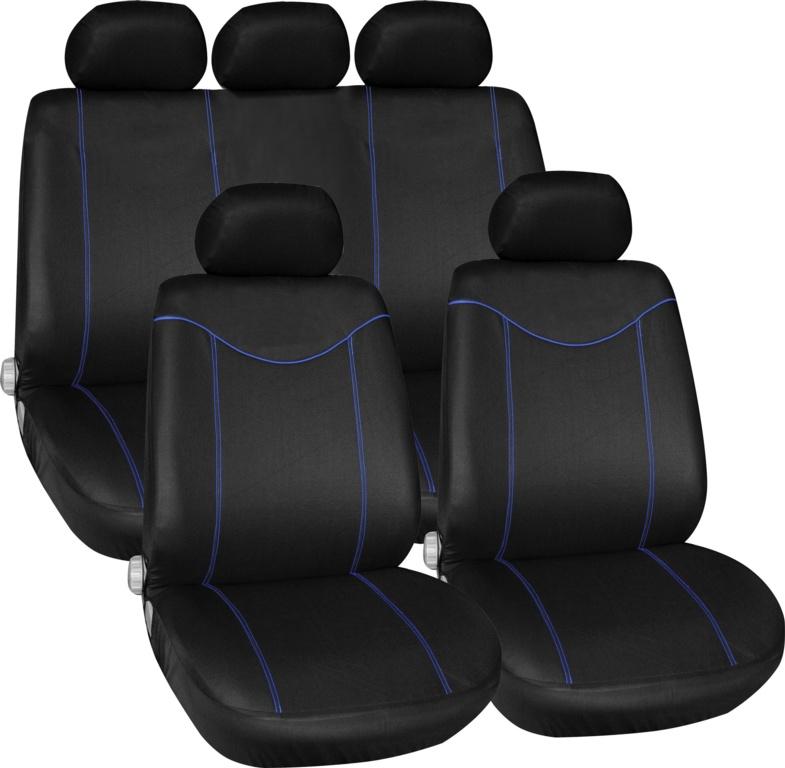 Streetwize Alabama Seat Cover Set - Blue 11 Piece
