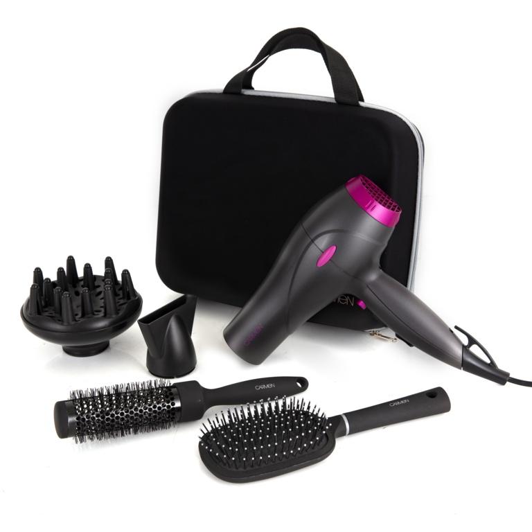 Carmen Neon Hair Dryer Styling Set - 2200w