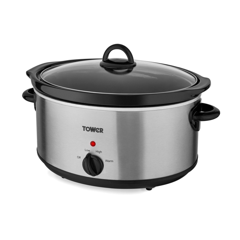 Tower Slow Cooker - 5.5L Stainless Steel