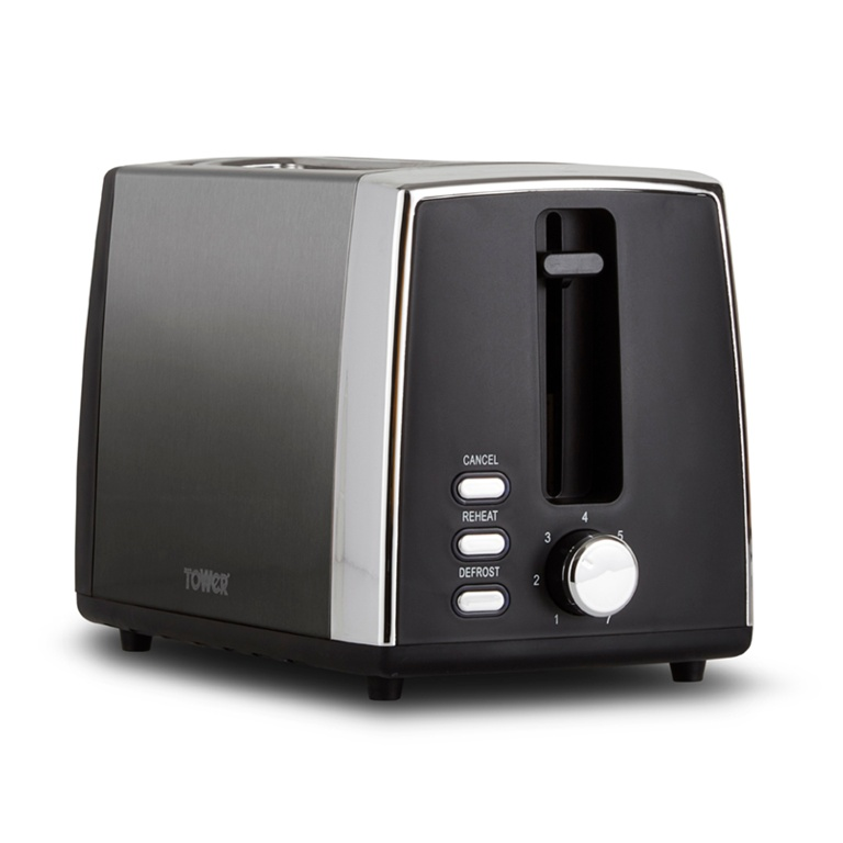 Tower Infinity Ombre 2 Slice Toaster - Graphite