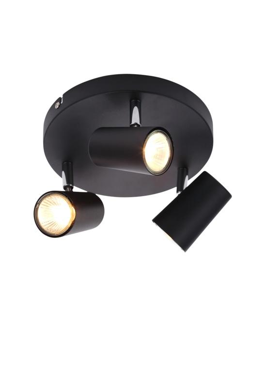 Inlight Harvey Spotlight 3 Plate - Black