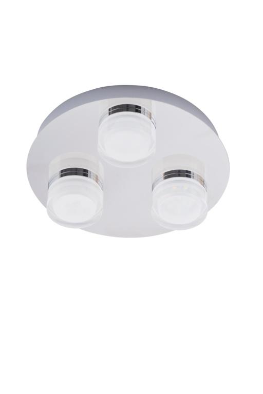 Spa Amalfi 3 Plate LED Flush Light - Chrome