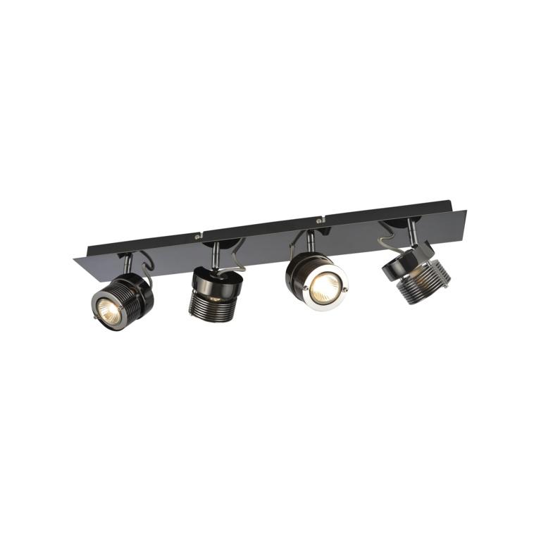 Inlight Pedro Cylinder 4 Spot - Black/Chrome
