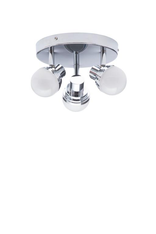 Spa Milan Deco LED Plate Light - 3 Light Chrome