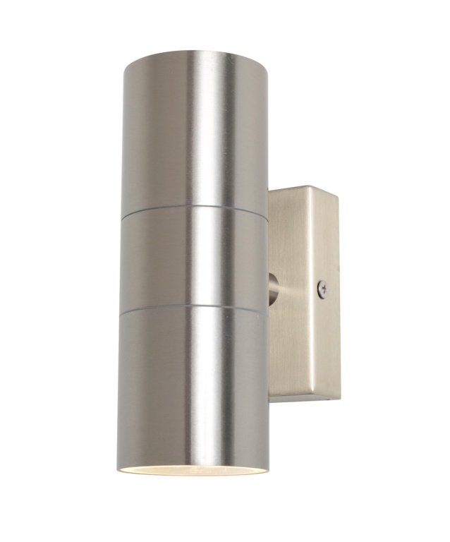 Zinc Leto Up Down Wall Light - Stainless Steel