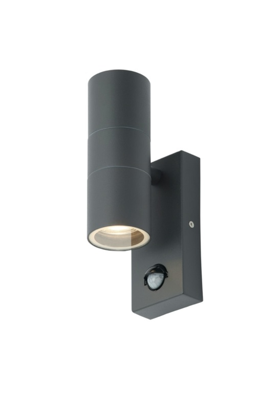 Zinc Leto 2 Light With PIR - Anthracite