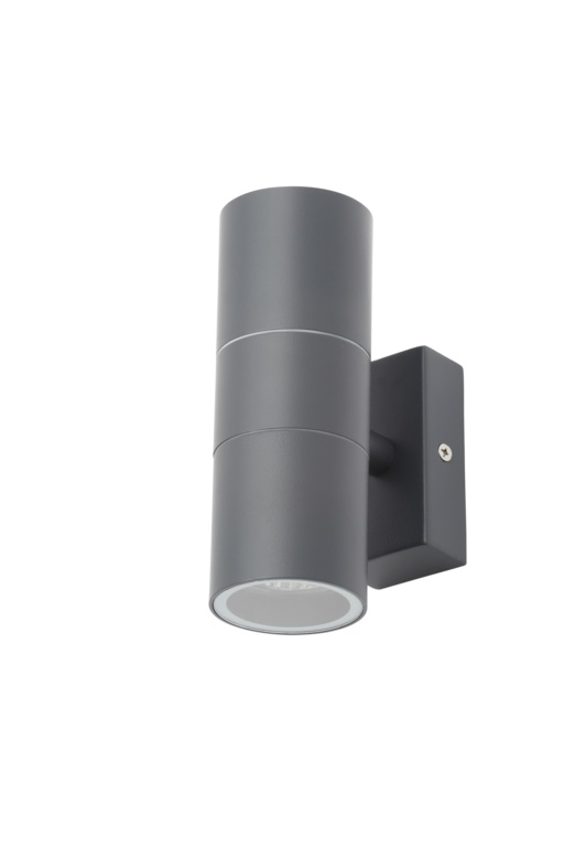 Zinc Leto Up Down Wall Light - Grey