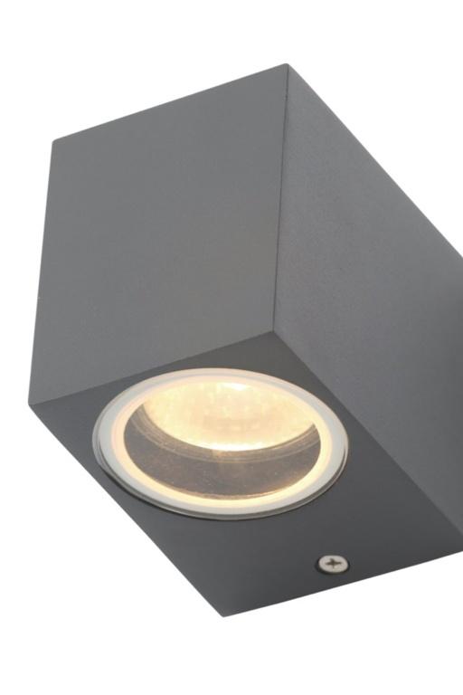Zinc Fleet Square Downlight GU10 - Grey